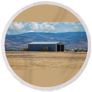 The Hay Shed Round Beach Towel