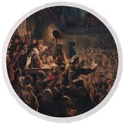 The Head Of The Deputy Jean Feraud 1759-95 Presented To Francois Antoine Boissy Danglas 1756-1826 Round Beach Towel