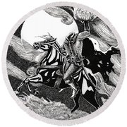 the Headless Horseman Round Beach Towel