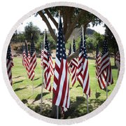 The Healing Field Round Beach Towel by Laurel Powell