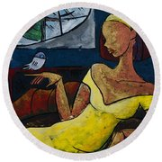 The Healing Process - From The Eternal Whys Series  Round Beach Towel