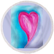 The Heart Is Round Beach Towel