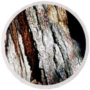The Heart Of Barkness In Mariposa Grove In Yosemite National Park-california  Round Beach Towel
