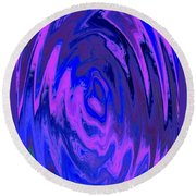 The Heart Of It Round Beach Towel