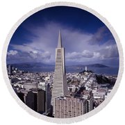 The Heart Of San Francisco Round Beach Towel by Mountain Dreams