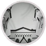 The Heavenly Spires Round Beach Towel