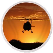The Helicopter Round Beach Towel