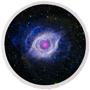 The Helix Nebula Round Beach Towel