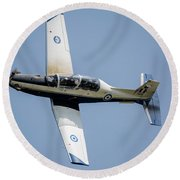 The Hellenic Air Force Daedalus Demo Round Beach Towel