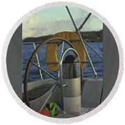 The Helm Round Beach Towel