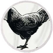 The Hen Round Beach Towel by George Adamson