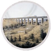 The High Bridge Near Farmville, Prince Round Beach Towel