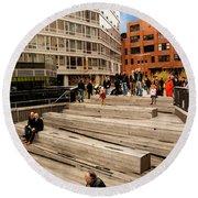 The High Line Urban Park New York Citiy Round Beach Towel