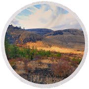 The Hills Round Beach Towel