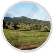 The Hills Near Marriot Ranch Round Beach Towel