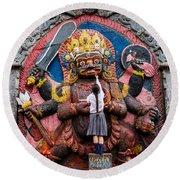 The Hindu God Shiva Round Beach Towel