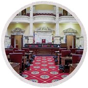 The Historic House Chamber Of Maryland Round Beach Towel
