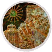 The History Of Consciousness Round Beach Towel