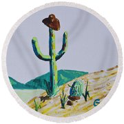 the Hold Up Round Beach Towel