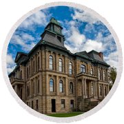 The Holmes County Courthouse Round Beach Towel