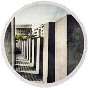 The Holocaust Memorial Berlin Germany Round Beach Towel