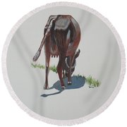 The Holy Cow And Dung 3 Round Beach Towel