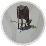 The Holy Cow And Dung 4 Round Beach Towel
