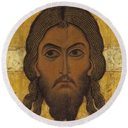 The Holy Face Round Beach Towel