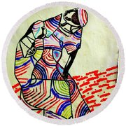The Holy Family Round Beach Towel by Gloria Ssali