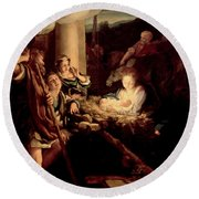 The Holy Night Round Beach Towel