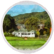 The Homestead Country Club Round Beach Towel