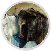 The Horse As Art Round Beach Towel