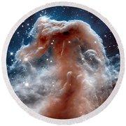 The Horsehead Nebula Round Beach Towel