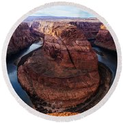 The Horseshoe River At Ultra High Resolution Round Beach Towel