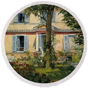 The House At Rueil Round Beach Towel