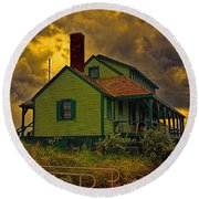 The House Of Refuge Round Beach Towel