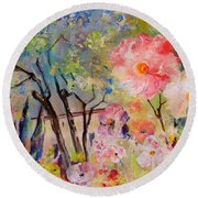 The House Of The Rising Flowers Round Beach Towel