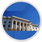The House Office Building  Round Beach Towel