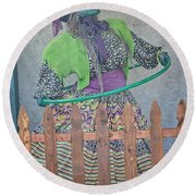 The Hula Hoop Witch Round Beach Towel