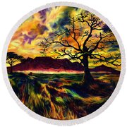 The Hunter Round Beach Towel by Kd Neeley