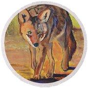 Coyote Hunting Round Beach Towel