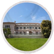 The Huntington Library House And Art Gallery Round Beach Towel