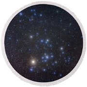 The Hyades Cluster With Aldebaran Round Beach Towel