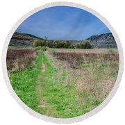 The Ice Age Trail Round Beach Towel by Jonah  Anderson
