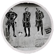 Homage To Banksy Round Beach Towel