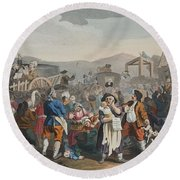 The Idle Prentice Executed At Tyburn Round Beach Towel