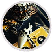 The Immaculate Reception 2 Round Beach Towel