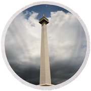 The Independence Monument Round Beach Towel