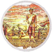 The Indian Tribe Round Beach Towel