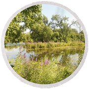The Indiana Wetlands 2 Round Beach Towel